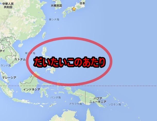 台風発生場所南シナ海北西太平洋